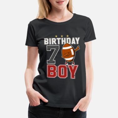 7th Birthday 7 Year Old Dabbing Football Player BDay