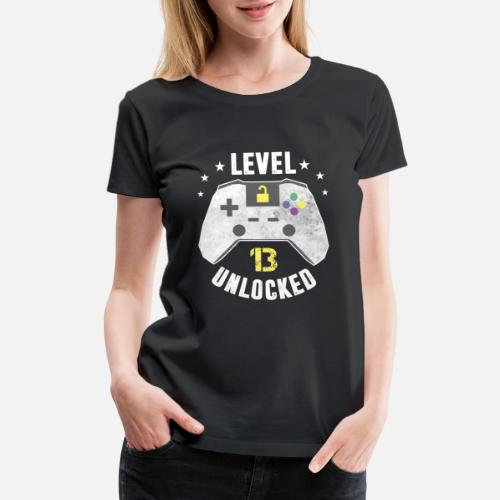Womens Premium T ShirtLevel 13 Unlocked