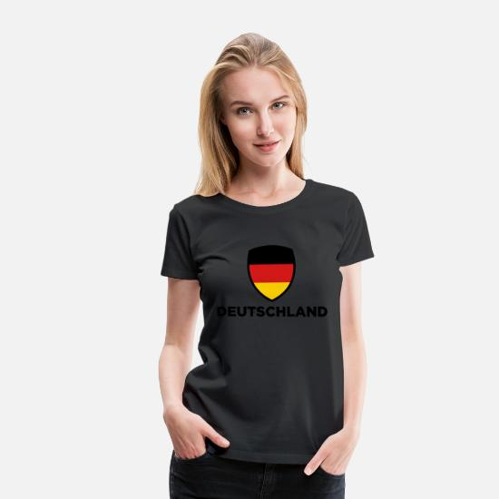 Germany T-Shirts - National Flag of Germany - Women's Premium T-Shirt black