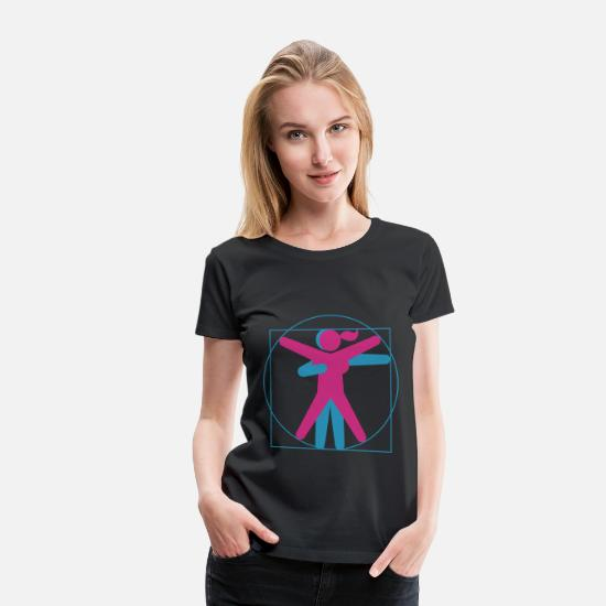 Sex T-Shirts - Kamasutra - Vitruvian BDSM - Women's Premium T-Shirt black