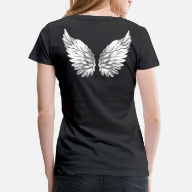 88b2f0b653cd7 Angelwings Angel Wings White Silver Angelwings - Women  39 s Premium T-Shirt