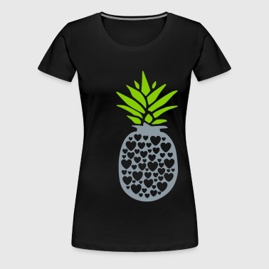 pineapple with heart - Women's Premium T-Shirt