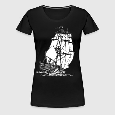 white pirate ship - Women's Premium T-Shirt
