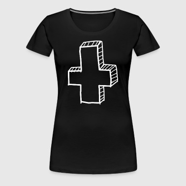 Atheist Cross Atheism No God - Women's Premium T-Shirt