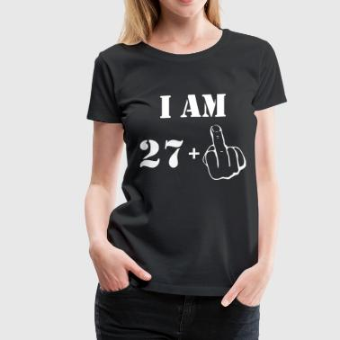 28th Birthday T Shirt 27 + 1 Made in 1989 - Women's Premium T-Shirt