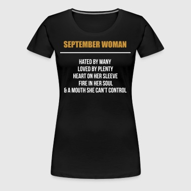 September woman hated by many - Women's Premium T-Shirt