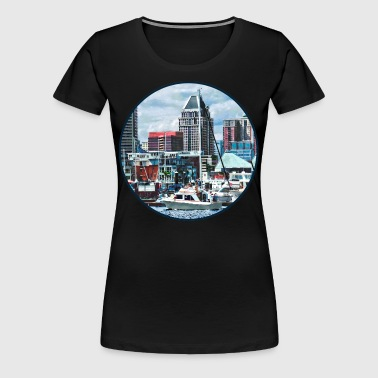 Baltimore MD - Baltimore Skyline at Charles River - Women's Premium T-Shirt
