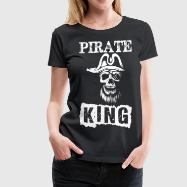 Pirate King Skull - Women's Premium T-Shirt