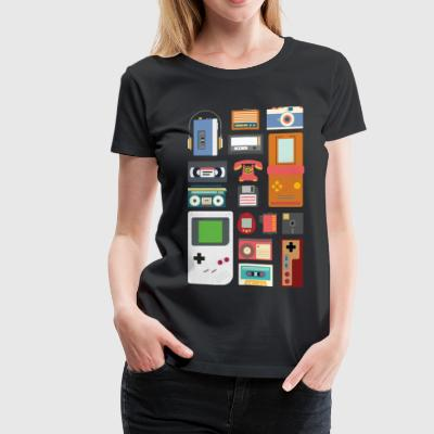Retro 90's Technology Gadgets Gift shirt - Women's Premium T-Shirt