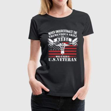 Afghanistan - nurse who is also a US Vet - Women's Premium T-Shirt