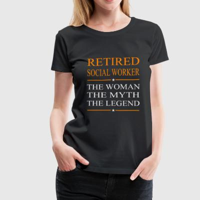Social worker - The woman the myth the legend te - Women's Premium T-Shirt