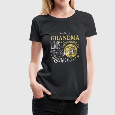 Grandma - Loves her grandkids to the moon & back - Women's Premium T-Shirt
