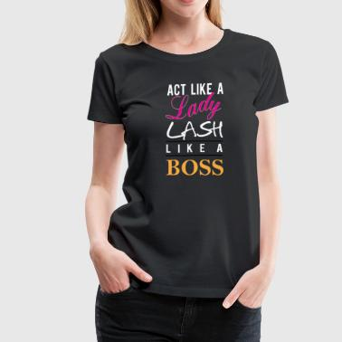 lash like a boss WH - Women's Premium T-Shirt