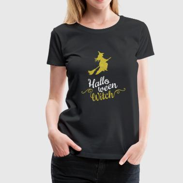 Halloween Witch - Glitter Gold - Women's Premium T-Shirt