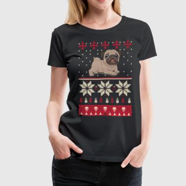 Best Christmas Gifts For Pug Lover - Women's Premium T-Shirt