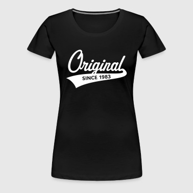 Original Since 1983 (Year Of Birth, Birthday, 1C) - Women's Premium T-Shirt