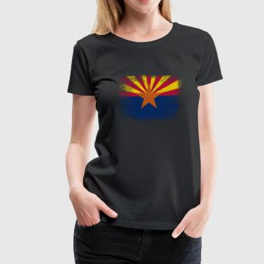Arizona State Flag Distressed Vintage - Women's Premium T-Shirt