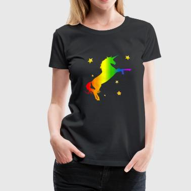 Unicorn Horse Stars Colorful Kids Fantasy Gift - Women's Premium T-Shirt