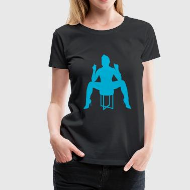 ebony sky blue 2 - Women's Premium T-Shirt