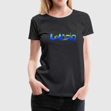 Leipzig Skyline Graffiti - Women's Premium T-Shirt