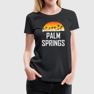 Palm Springs Sunset And Palm Trees Beach - Women's Premium T-Shirt