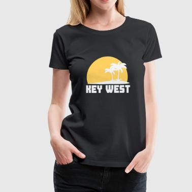 Key West Florida Sunset Palm Trees Beach - Women's Premium T-Shirt