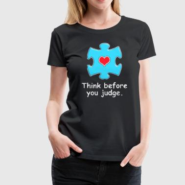 Autism Awareness Light Blue Think - Women's Premium T-Shirt