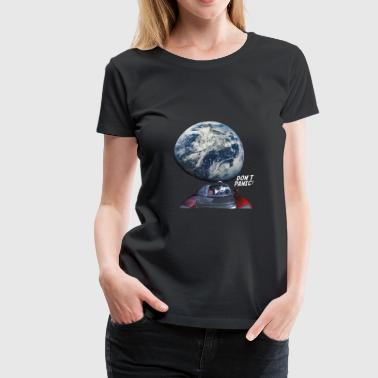 Dont Panic - Red Roadster Escapes from Earth - Women's Premium T-Shirt