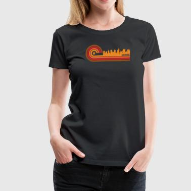 Retro Style Columbus Ohio Skyline - Women's Premium T-Shirt
