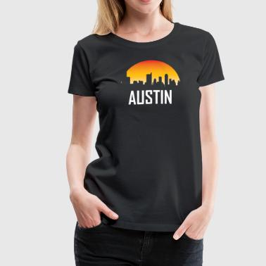 Austin Texas Sunset Skyline - Women's Premium T-Shirt