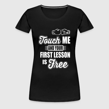 boxing: first lesson is free - Women's Premium T-Shirt