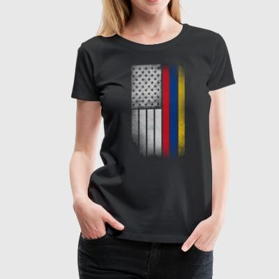 Colombian American Flag - Women's Premium T-Shirt