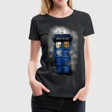 Haunted Police Phone Booth - Women's Premium T-Shirt