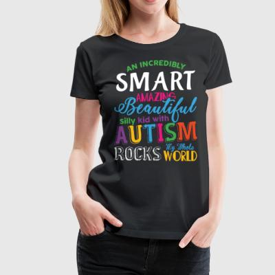 Autism My Whole Rocks World T Shirt - Women's Premium T-Shirt