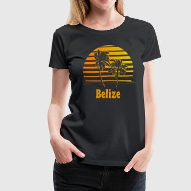 Belize Sunset Palm Trees - Women's Premium T-Shirt