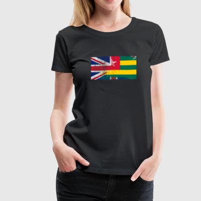 British Togolese Half Togo Half UK Flag - Women's Premium T-Shirt