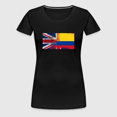 British Colombian Half Colombia Half UK Flag - Women's Premium T-Shirt