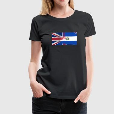 British Salvadoran Half El Salvador Half UK Flag - Women's Premium T-Shirt