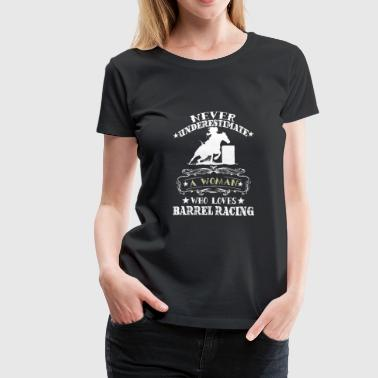 A Women Loves Barrel Racing. - Women's Premium T-Shirt