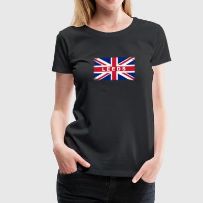Leeds Shirt Vintage United Kingdom Flag T-Shirt - Women's Premium T-Shirt
