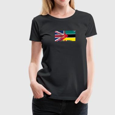 British Mozambican Half Mozambique Half UK Flag - Women's Premium T-Shirt
