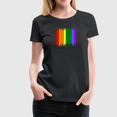 Columbus Ohio Rainbow Skyline LGBT Gay Pride - Women's Premium T-Shirt
