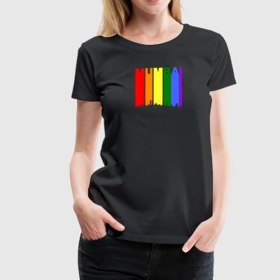 Mumbai India Skyline Rainbow LGBT Gay Pride - Women's Premium T-Shirt