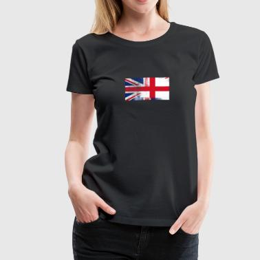 British English Half England Half UK Flag - Women's Premium T-Shirt