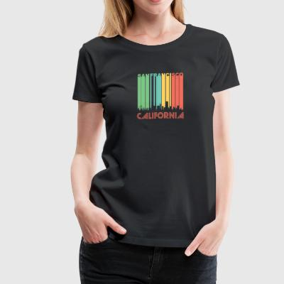 Retro San Francisco Skyline - Women's Premium T-Shirt