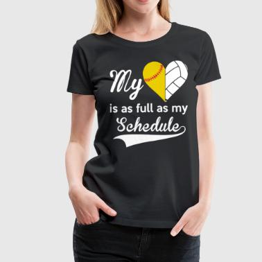 MY HEART IS AS FULL AS MY SCHEDULE BASEBALL shirt - Women's Premium T-Shirt
