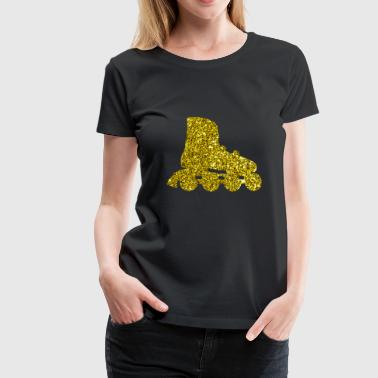 Golden Inline skate - Women's Premium T-Shirt