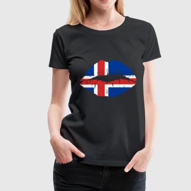 Iceland Flag Kiss World Champions soccer gift idea - Women's Premium T-Shirt