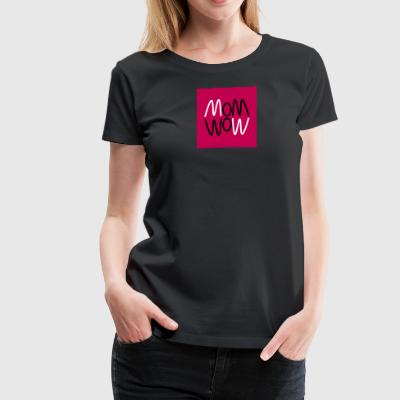 Curvy mom wow graphic - Women's Premium T-Shirt