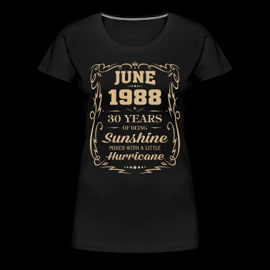 June 1988 Sunshine mixed Hurricane - Women's Premium T-Shirt
